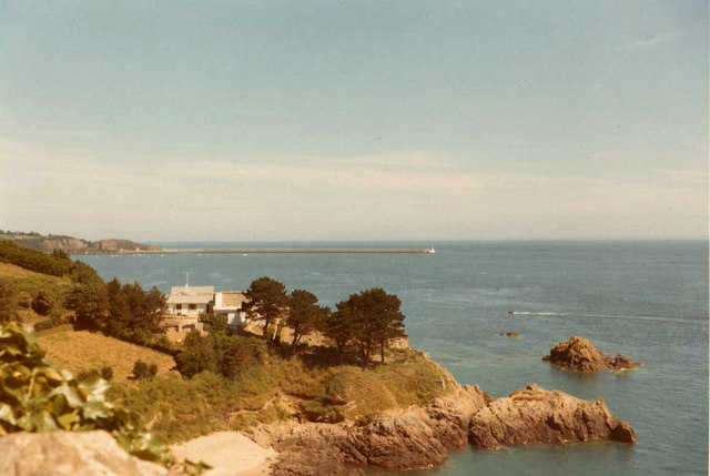St Catherine's Bay from Gorey, Jersey, CI