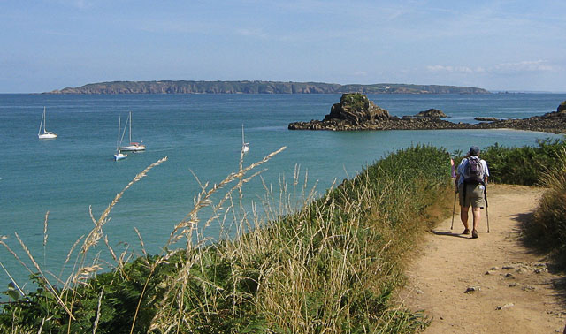Cliff walk along the east of Herm