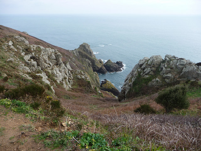 View from the coast path Icart Point