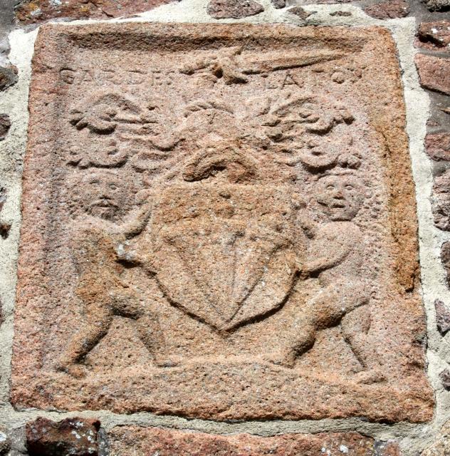 Paulet Family coat of arms, Gorey Castle