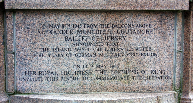 Liberation memorial, Royal Square, St Helier