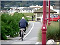WV6249 : Cycle track alongside St Aubin's Bay by Oliver Dixon