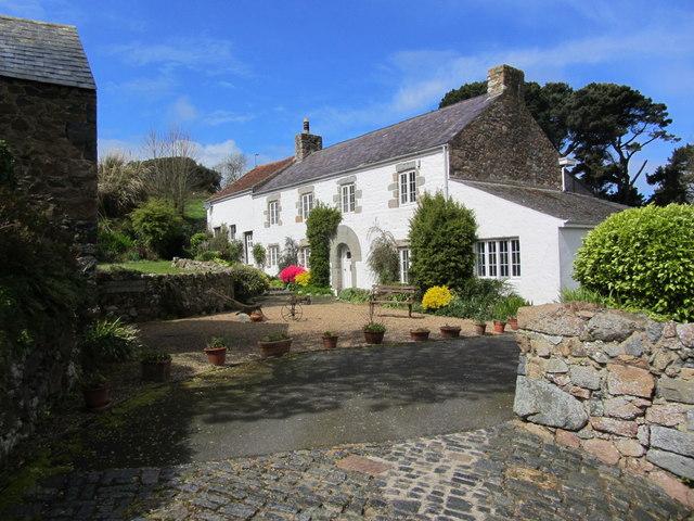 An attractive Guernsey farmhouse