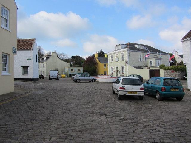 Cobbled square, Le Huret, St Anne