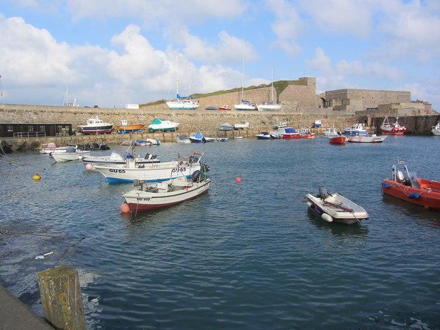 Inner harbour at Braye
