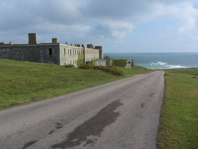 The road up beside Fort Tourgis