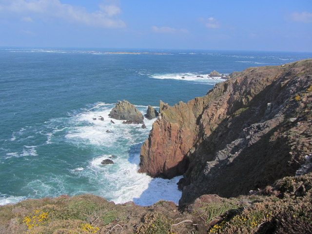 Cliff scenery at the western end of Alderney