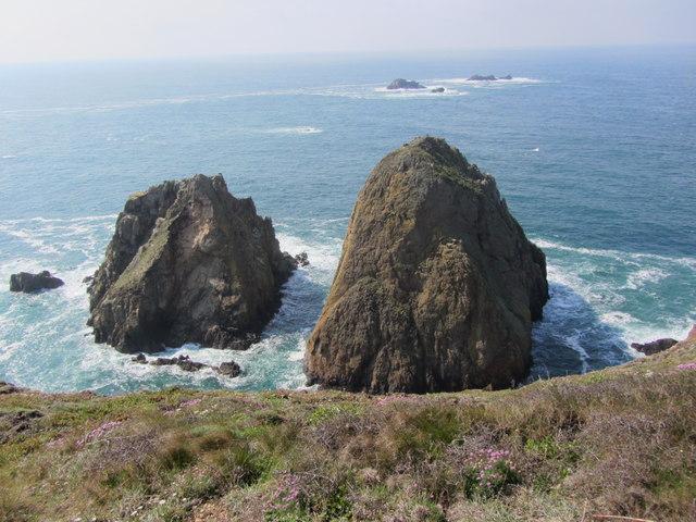 La Nache (right) & Fourquie (left) Sea stacks