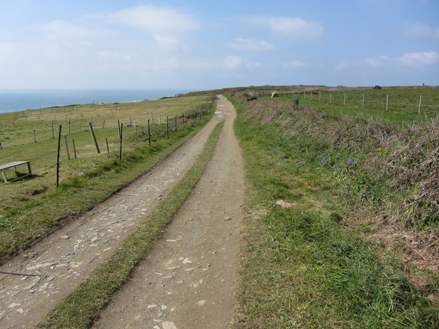 Track around the south side of Alderney Airport