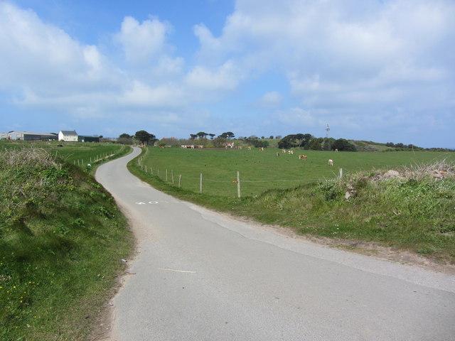 Lane leading towards St Anne