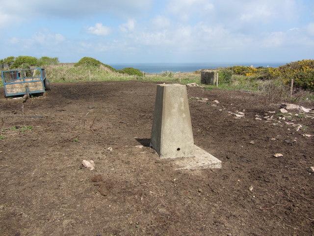 Trig point on Essex Hill, Alderney