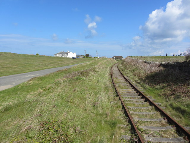 Alderney Railway on the approach to Whitegates