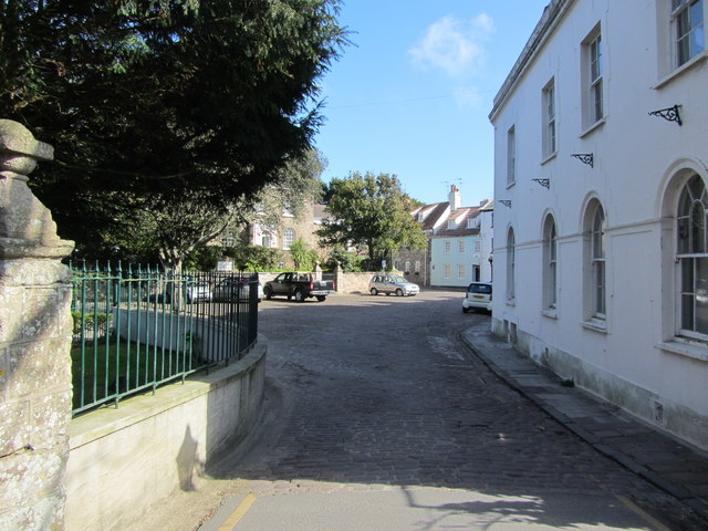 View into Connaught Square, St Anne