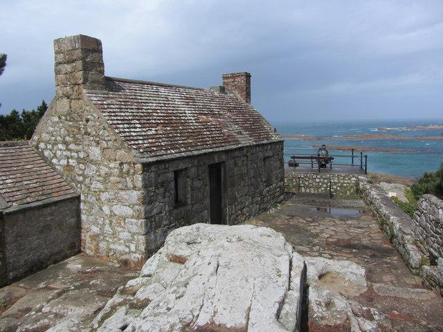 Watch house at  Rocque Du Guet Battery