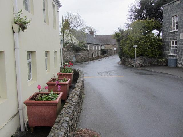 Road junction at Kings Mills