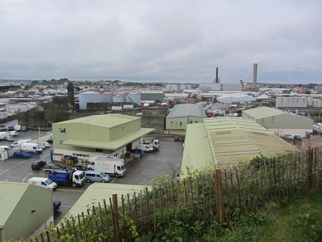 The industrial heart of Guernsey at St Sampson