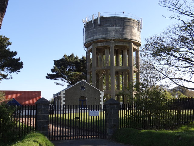 Water Tower and Pumping Station on Forest Road