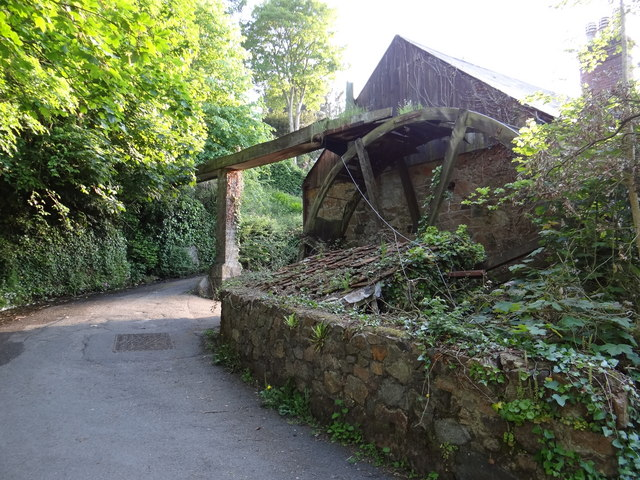 Old millwheel and mill race