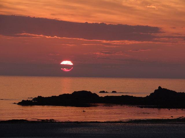 Sunset on Vazon Bay