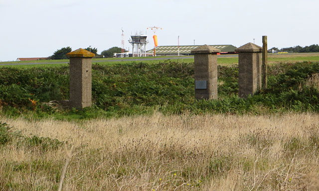 The old gateposts to Lager Sylt