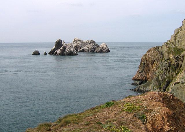Les Etacs Gannet Colony off Alderney
