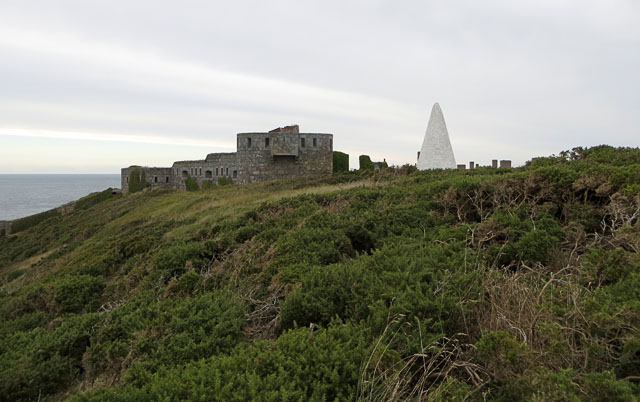 Fort Tourgis and the Day Marker from the South