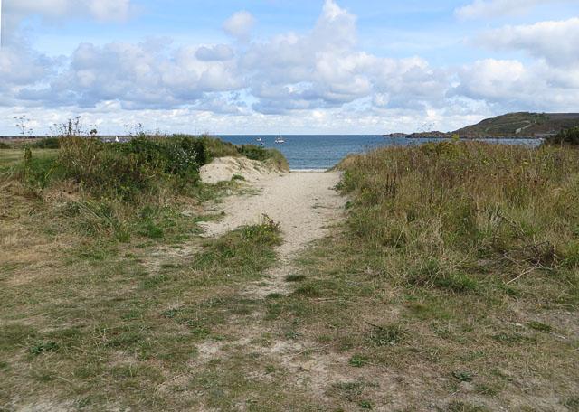 Gap in the Dunes at Braye Bay