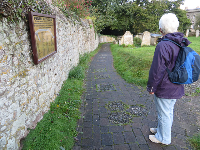 The Pebble Path in St Anne's Churchyard