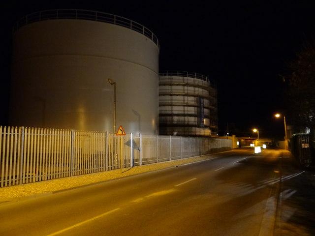Gas tanks in the dark