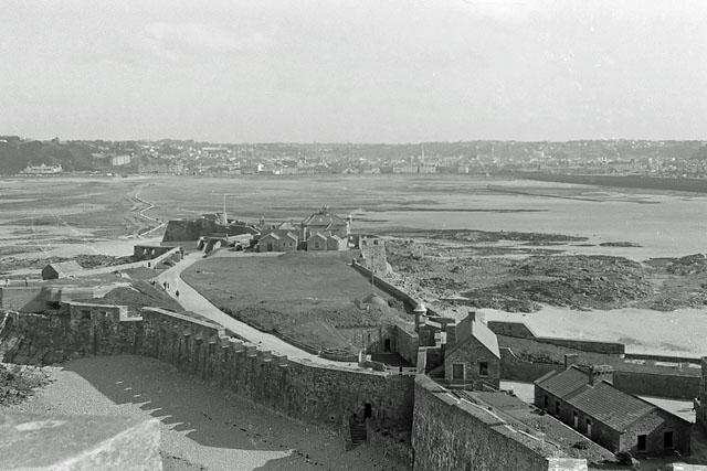 View from Elizabeth Castle towards St Helier, 1967
