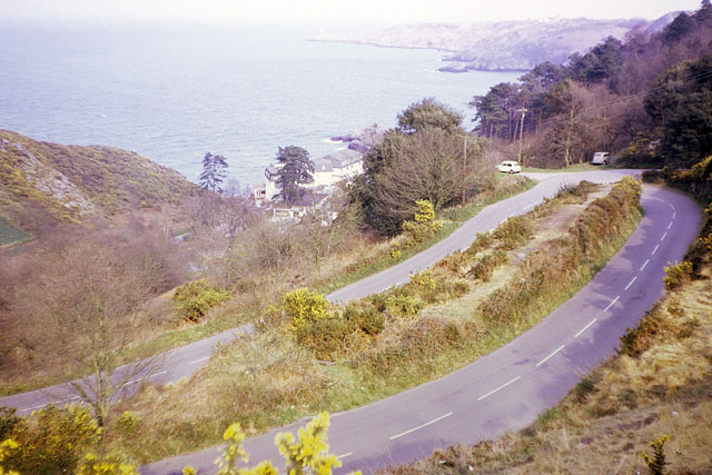 Road down to Bouley Bay, 1967