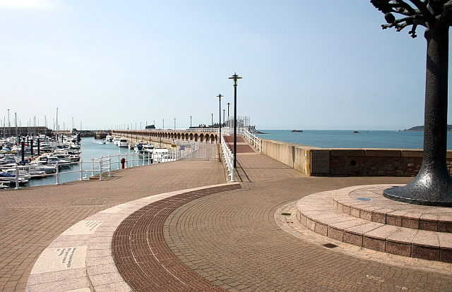 The marina wall