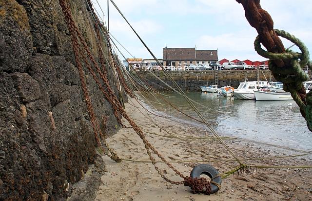 Rozel harbour wall