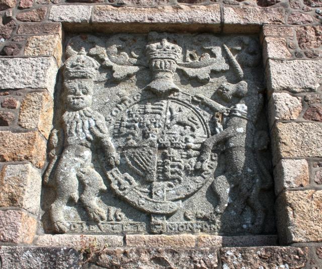 Charles II coat of arms, Gorey Castle
