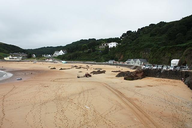 West end of the beach, Le Greve de Lecq