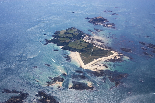 Herm from the air