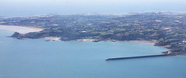 St Catherine's Bay from the air