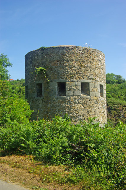Defence tower, Saint's Bay, Guernsey