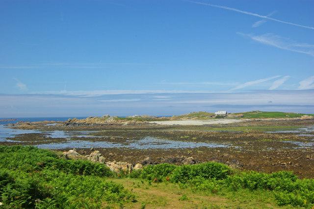 View of Lihou Island and causeway