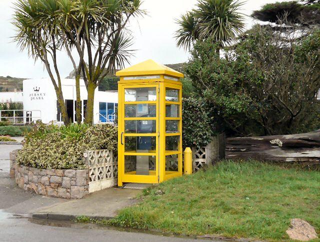 Telephone kiosk outside Jersey Pearl