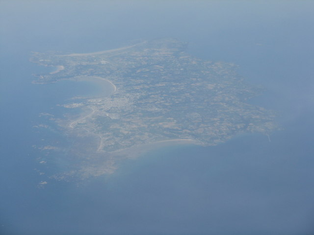 Jersey, from above the Cotentin coast