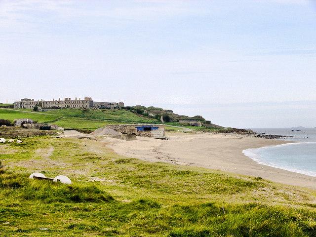 Saline Bay and Fort Tourgis, Alderney