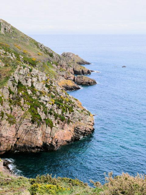 Le Tchue Bay and cliffs of Alderney
