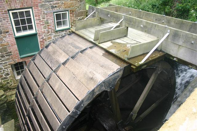 The waterwheel at the Moulin de Tesson