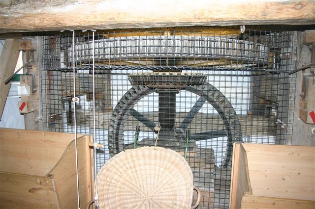 The pit gear in the Moulin de Quetevel