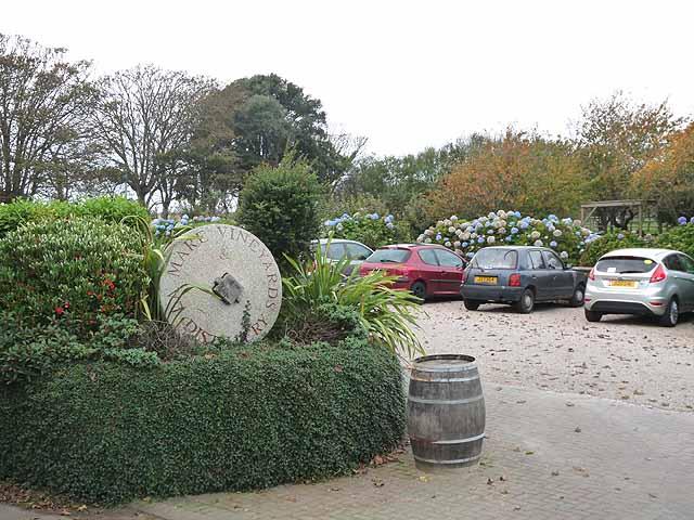 Carpark at La Mare Wine Estate
