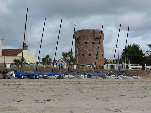 Round tower on St Aubin's Bay