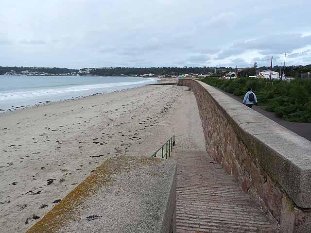 Sea wall and Promenade, St Aubin's Bay