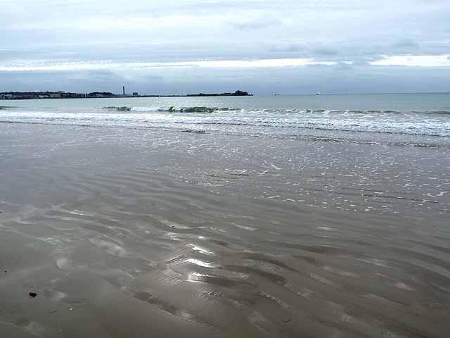 St Aubin's Bay at high tide