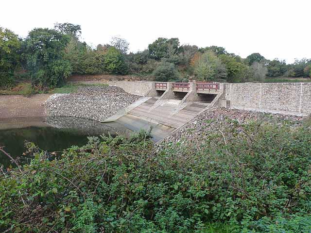 Dam in Queen's Valley Reservoir